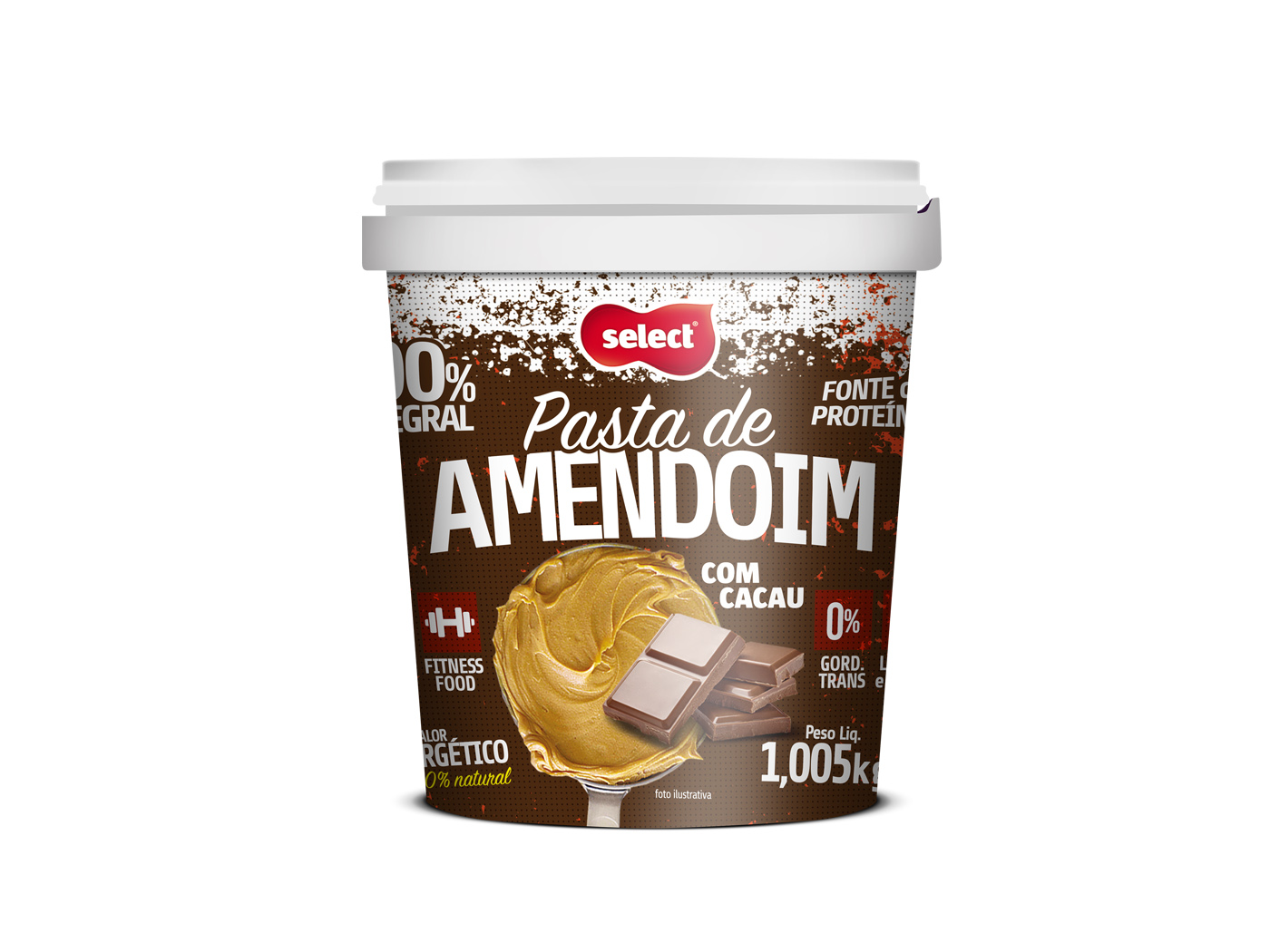pasta de amendoim chocolate select 1kg
